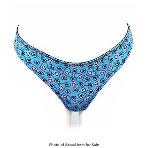 DOLLHOUSE Blue & Pink Heart Peek-A-Boo Thongs